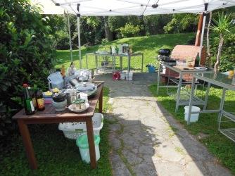 Kochen im Grünen Zebra Garten