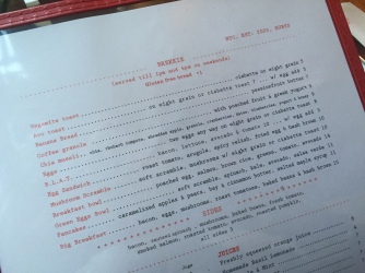 Rubys Cafe Breakfast Menu Speisekarte