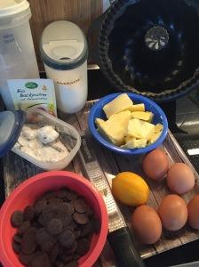 Zutaten für Marmorguglhupf