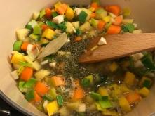 Linseneintopf mit Gemüse