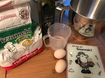 Pastateig - ganz simple Zutaten