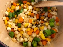Rindsrouladen - Gemüse anrösten