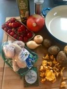 OnePot Gockel auf herbstlichem Gemüse - Zutaten