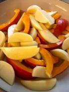 Gemüse in Spalten schneiden