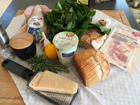 Caesar Salad - Zutaten - Gockel